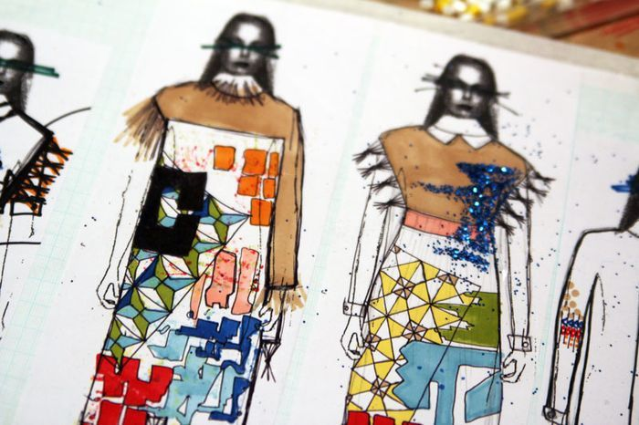 Fashion Sketchbook - graphic print & pattern design, Leutton Postle SS13
