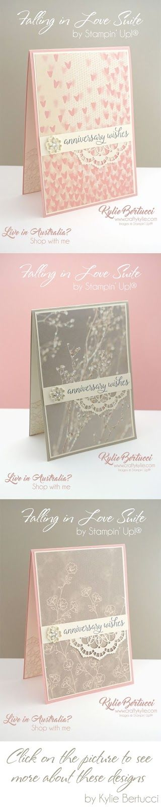 Kylie's Facebook Live video 21st February. Click on the image to see the recording of the live video and watch Kylie make these gorgeous cards using the Falling in Love Designer Series Paper.