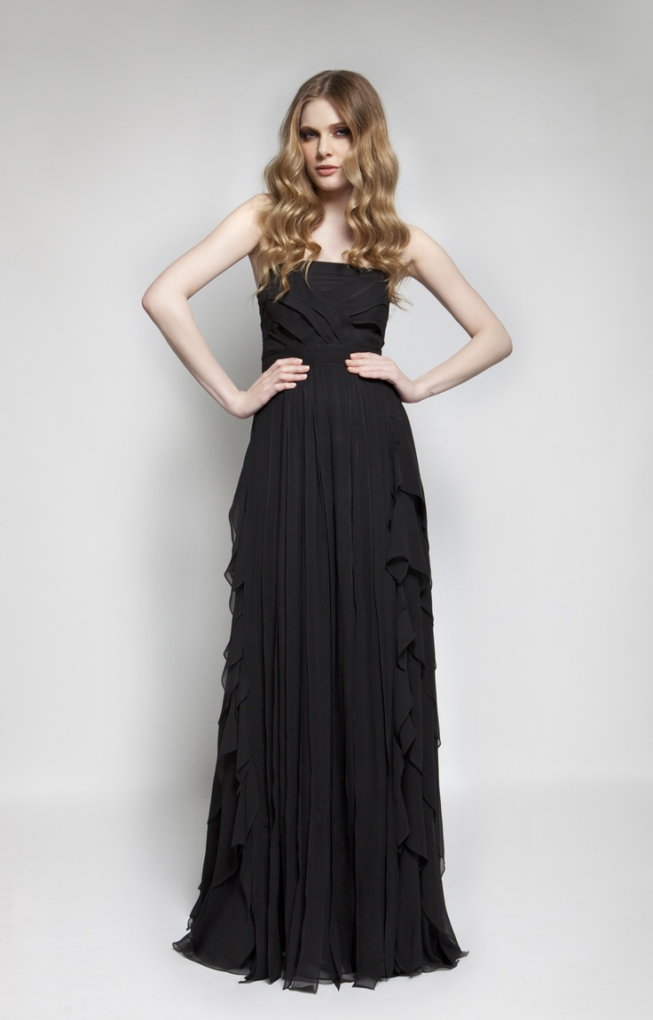 CHRISTOS COSTARELLOS AW 12-13   Silk Chiffon Maxi Dress.