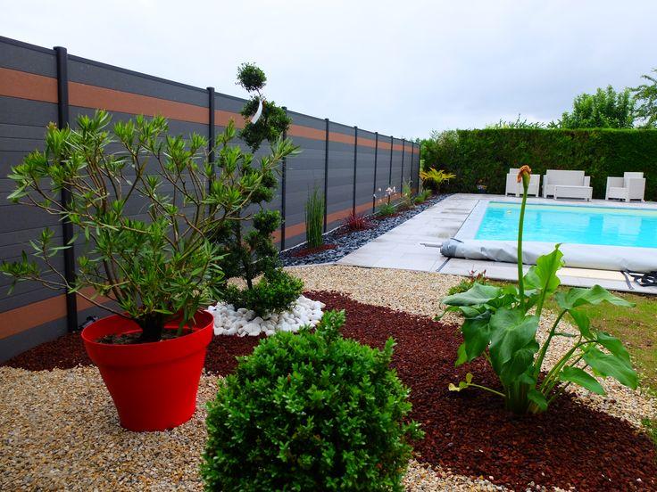 Les 25 meilleures id es de la cat gorie cloture en aluminium sur pinterest for Cloture jardin contemporaine