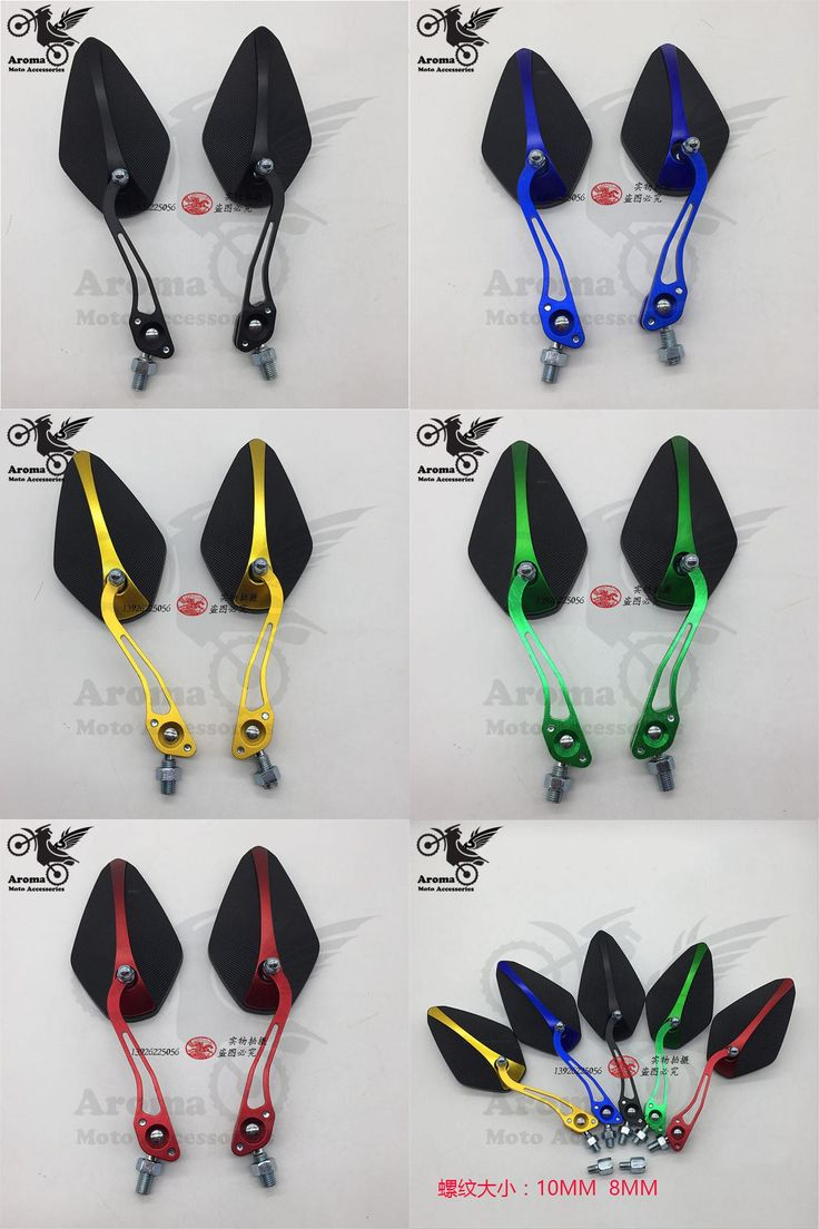[Visit to Buy] black motorcycle rear view mirrors motorbike Accessories motocross rearview mirror for yamaha  honda suzuki kawasaki universal #Advertisement
