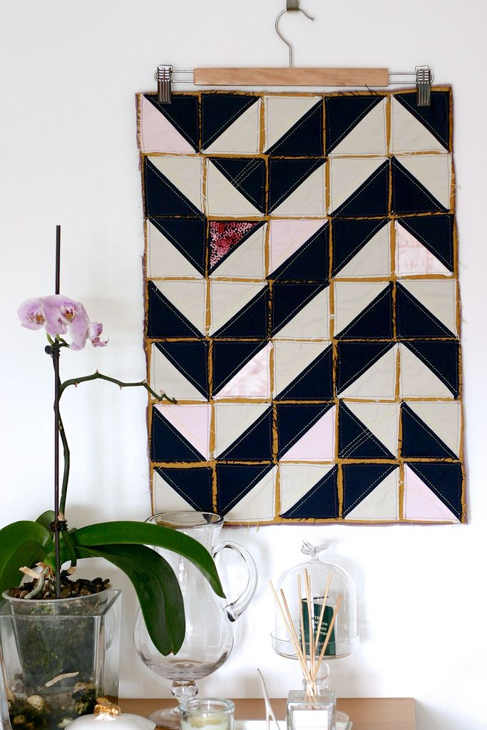 Tablemats, quilted and embroidered by Montse Llamas