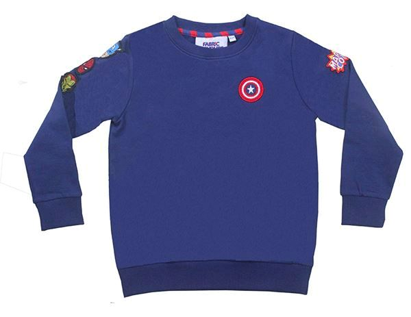 FFMA27 Marvel Interchangeable Badge Sweatshirt - Marvel - Fabric Flavours