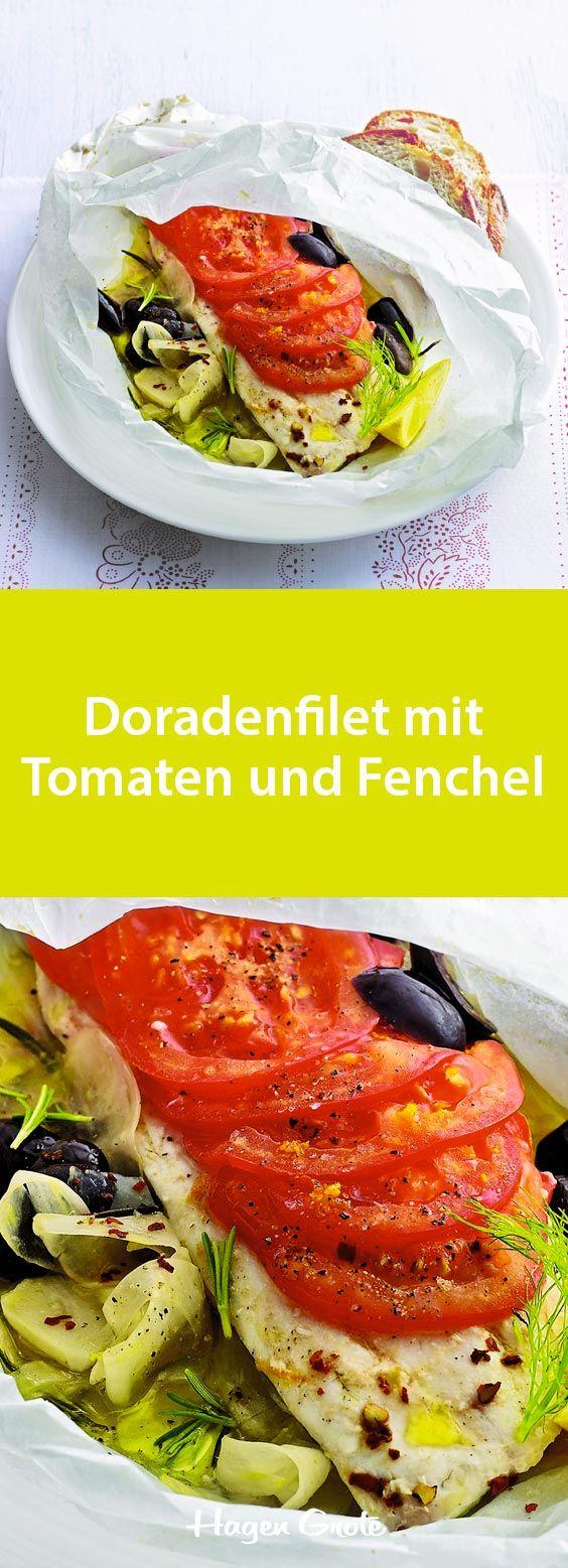 Doradenfilet mit Tomaten und Fenchel