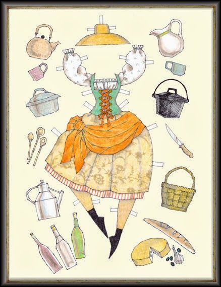 Miss Missy Paper Dolls: Italian Kitchen by Donald Hendricks