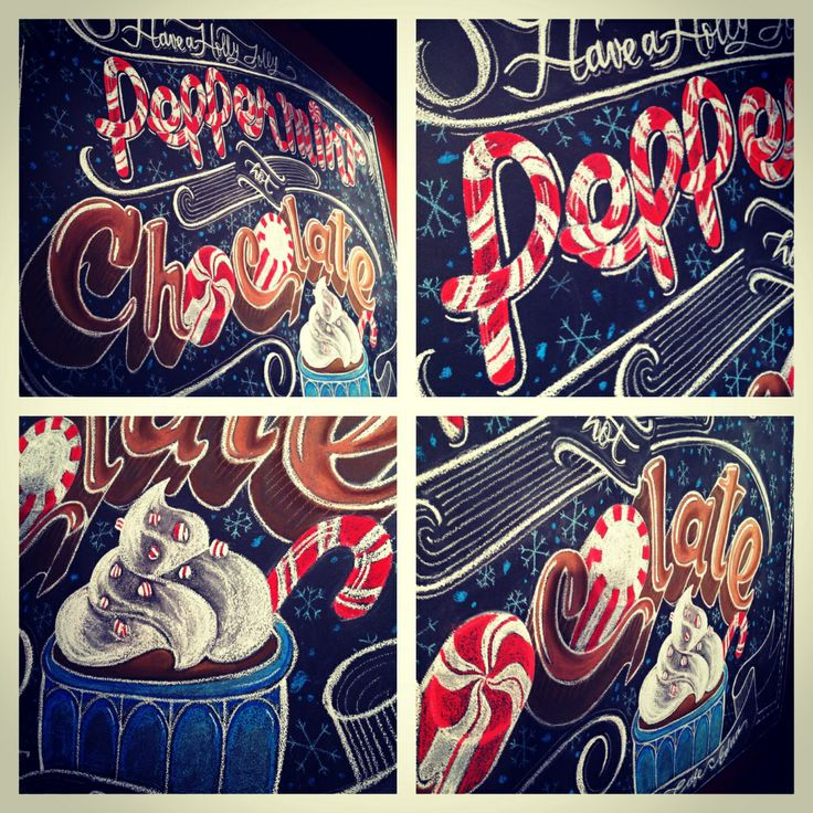 Christmas Holidays Chalk design by Carolina Ro #carolinaro # ...