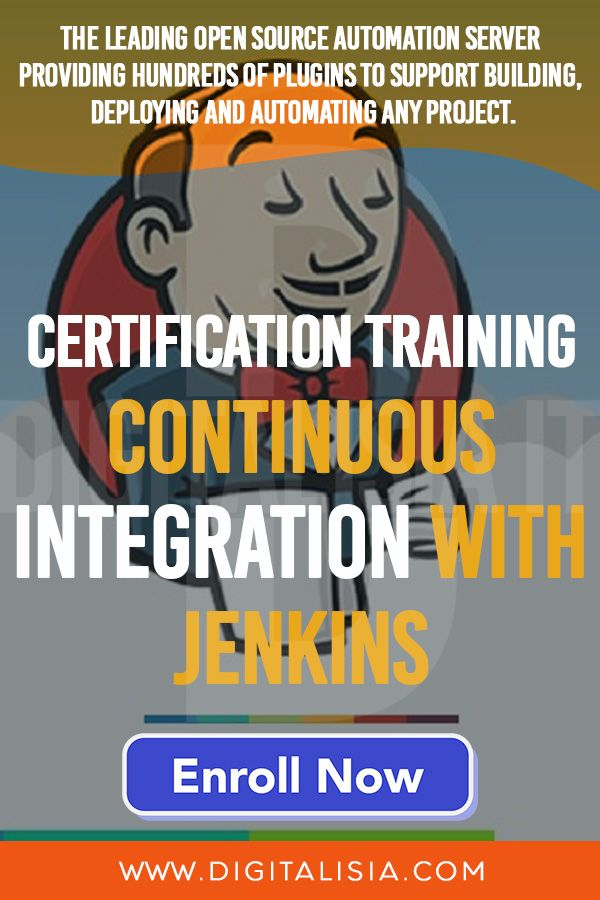 Continuous Integration With Jenkins Certification Best Jenkins Course Jenkins Full Training In 2020 Learning Courses Learning Objectives Continuity