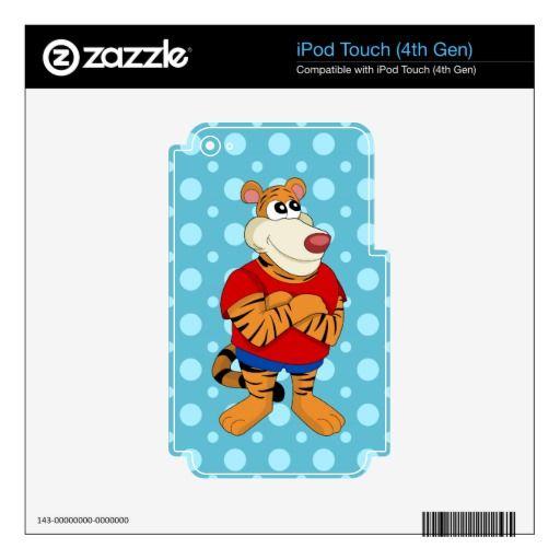 Tiger cartoon iPod Skin
