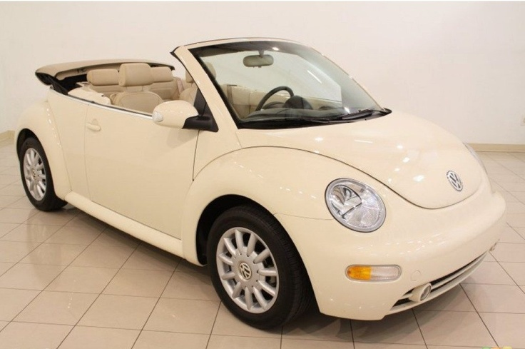 2005 Volkswagen New Beetle GLS Convertible in Harvest Moon Beige. YAAAS!!!