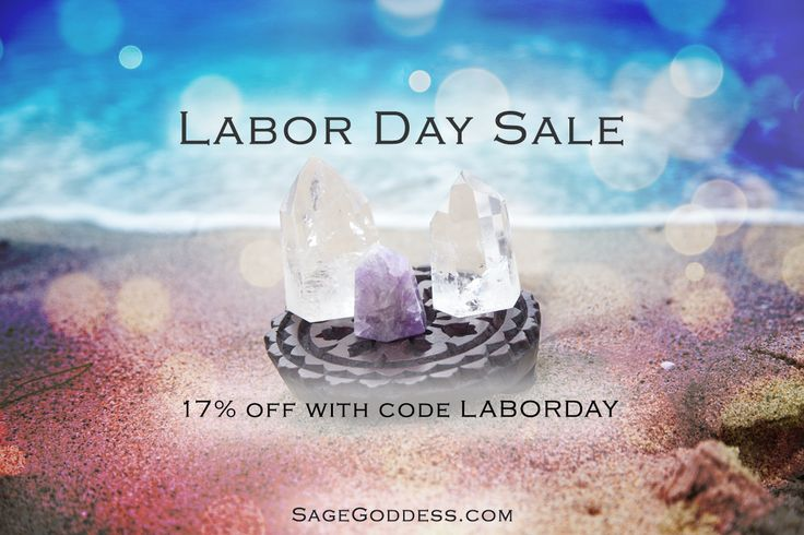 What kind of magic will you be enjoying this Labor Day? We're celebrating this day with 17% off on SageGoddess.com. Be sure to checkout with code LABORDAY to take advantage of these special savings.