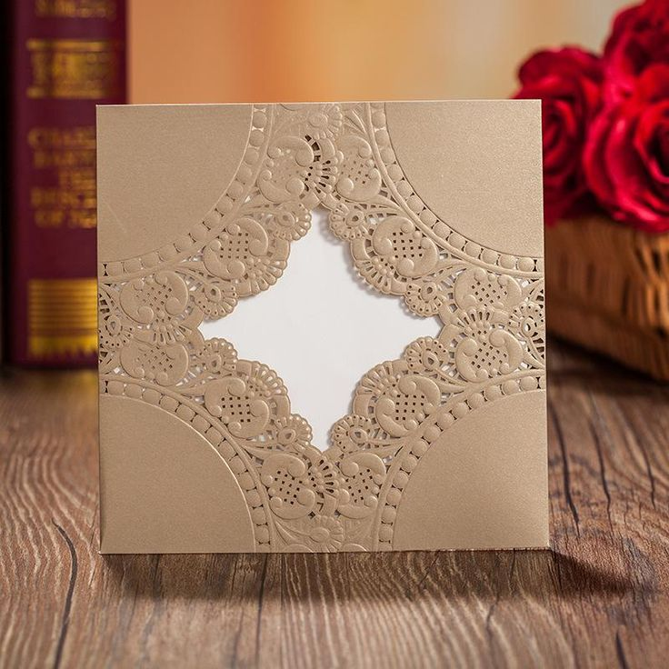 Best 14 Laser cut gold wedding invites images on Pinterest | Invites ...