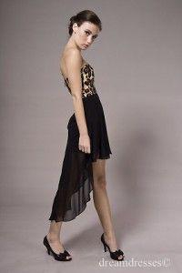 Zwarte asymmetrische rok