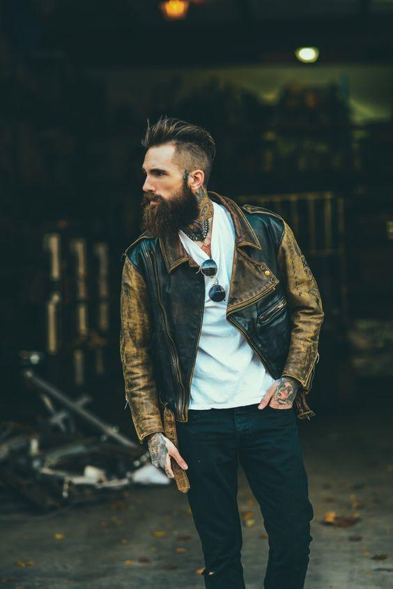 Jaqueta de Couro. Macho Moda - Blog de Moda Masculina: Jaqueta de Couro Masculina, pra Inspirar e Onde Encontrar. Moda Masculina, Moda para Homens, Roupa de Homem, Inverno Masculino, Moda Masculina 2017. Jaqueta de Couro Perfecto, Jaqueta de Couro Biker Jacket. Hipster