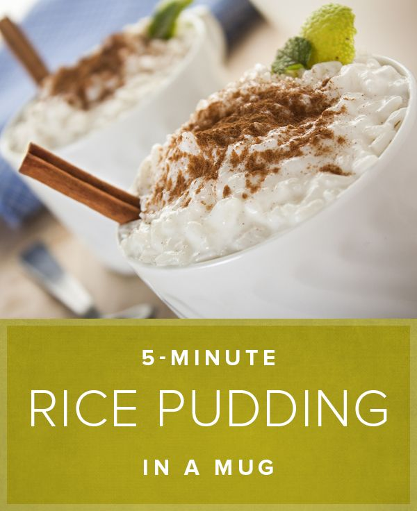 This mug recipe for rice pudding will be your new go-to next time you're making this delicious dessert.