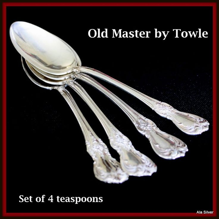 Old Master set of four teaspoons in sterling by Towle Silversmiths