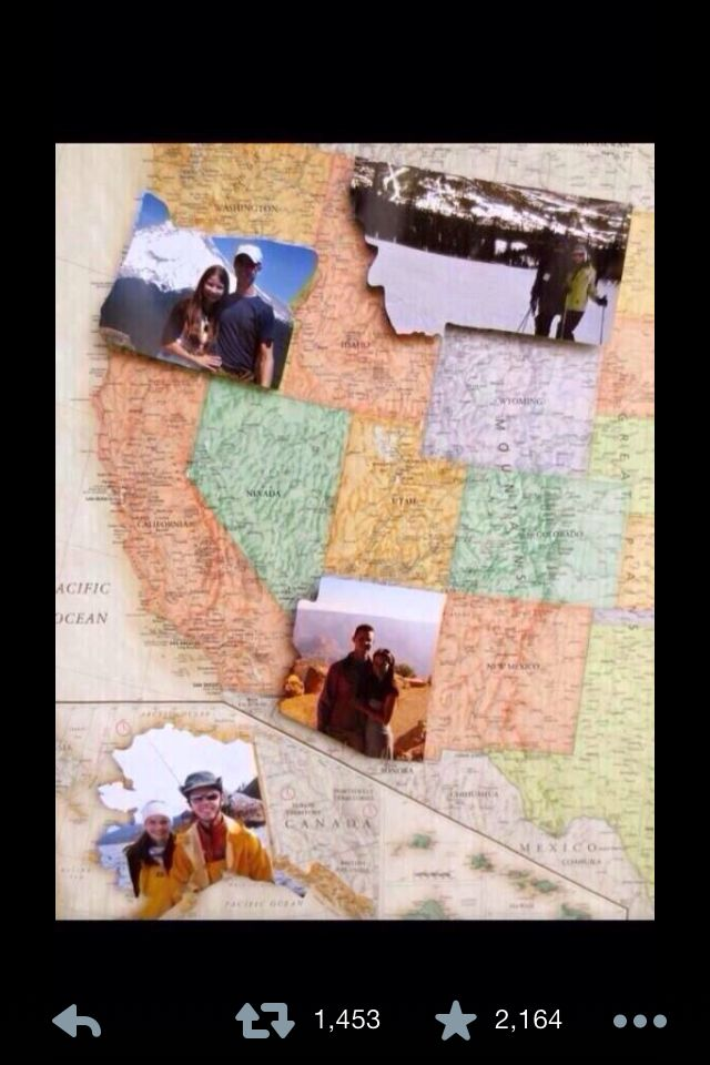 Map of the US with pictures of your adventures in each state!