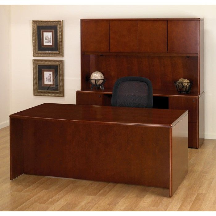 Desk Cherry In 2020 Used Office Furniture Wooden Office Desk Office Desk For Sale