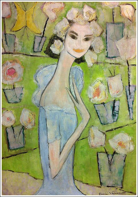 At 1st Dibs - painting by Gloria Vanderbilt