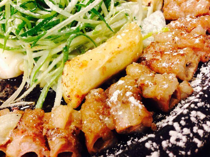 Beef intestine BBQ.