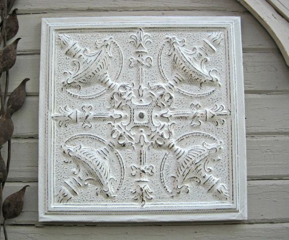 82 best Antique Tin Ceiling Tiles in Whites images on ...