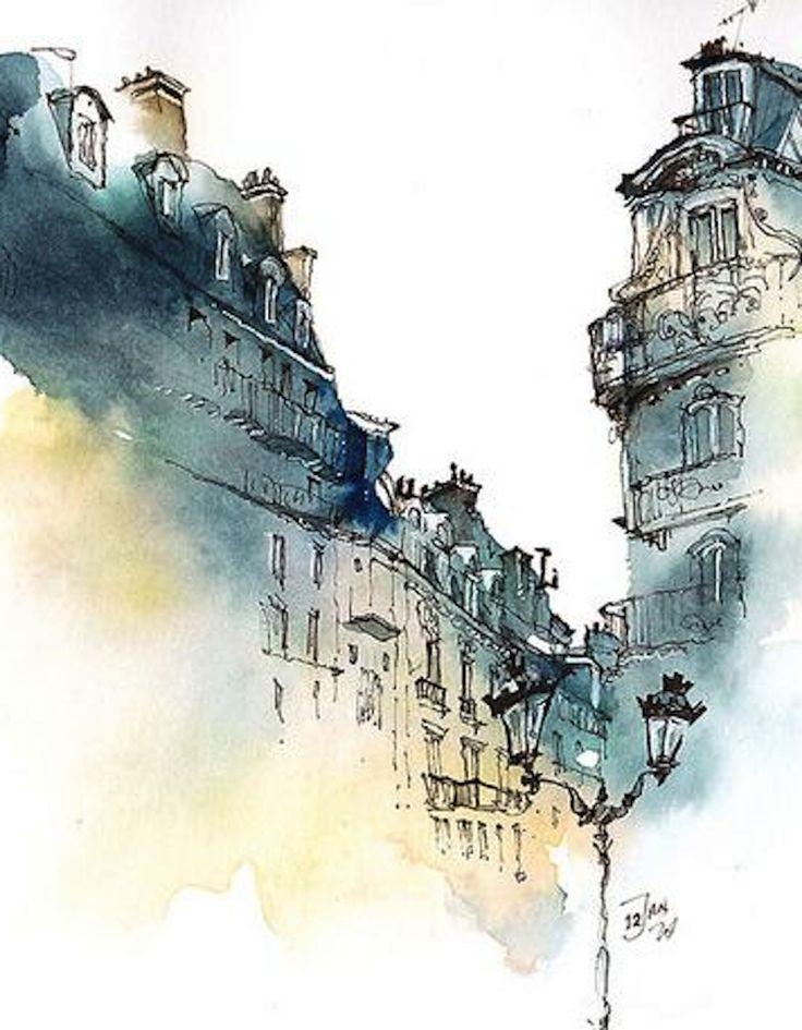 Paris, France (detail) by Park Sunga