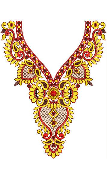 Mirror Neck Gala Designs For Salwar Kameez