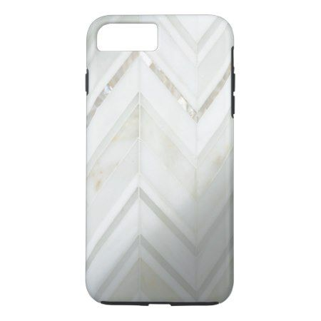 Cool white trendy modern mother of pearl pattern iPhone 7 plus case - tap to personalize and get yours
