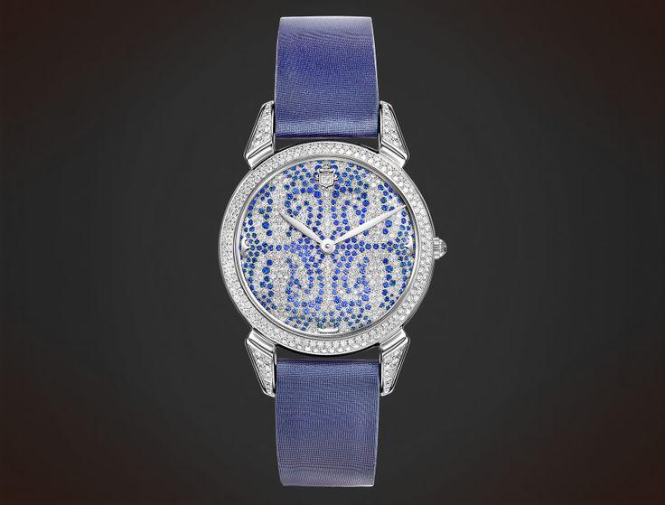 Cuervo y Sobrinos Historiador Lady. Diamonds & sapphires. #watch