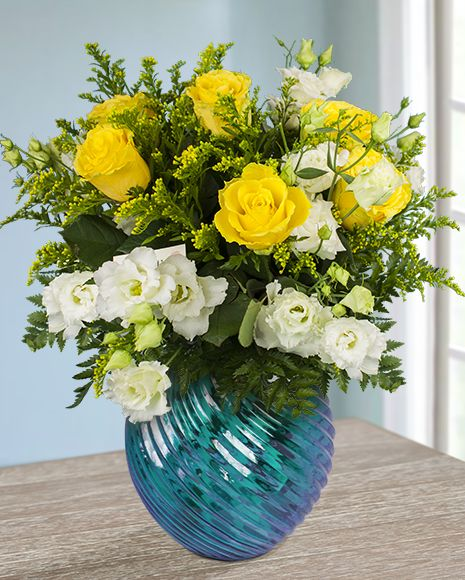 """White and yellow flower bouquet - perfect for saying """"Have a great day!"""""""