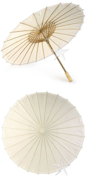 Paper umbrellas from Good Things Wedding Favors