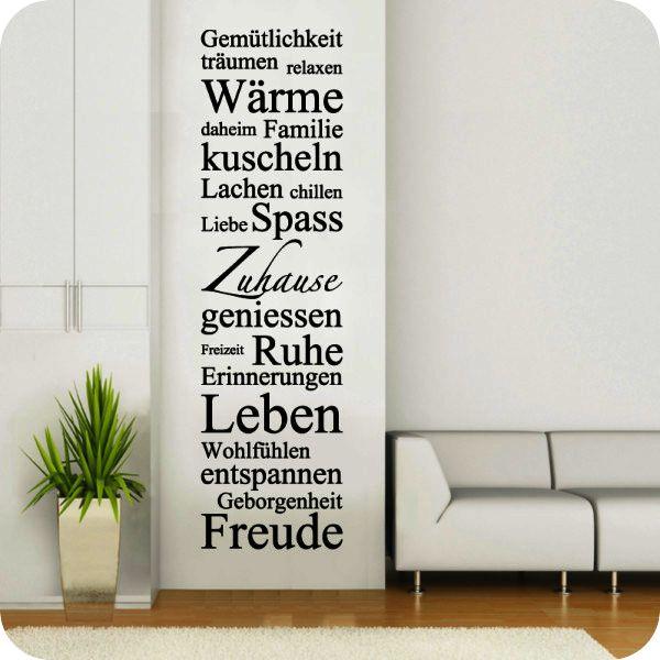 Wandtattoo Wörterblock Zuhause - Bild 1