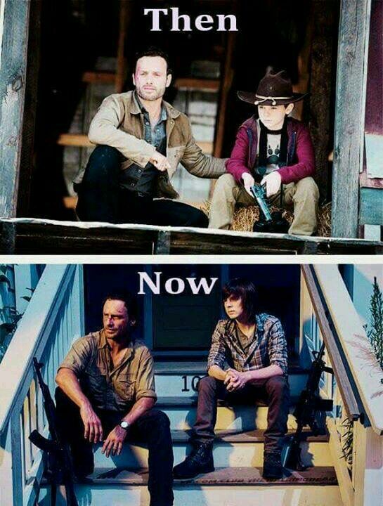 Andrew Lincoln & Chandler Riggs <3 <3 <3 omg I <3 these people! yes I know there not real people. DON'T JUDGE :-P LOL