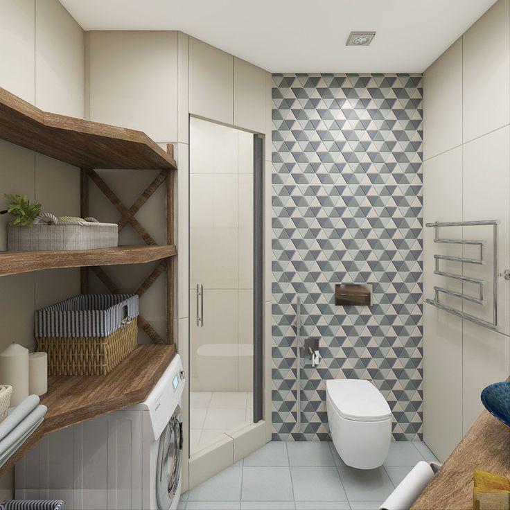 Ванная комната в скандинавском стиле.  Мебель для ванной комнаты с древесным узором:https://goo.gl/4QtLJx Овальные ванны:https://goo.gl/7V6xiD  #ванная #ваннаякомната #сантехника #санузел #мебельдляванной #смеситель #раковина #унитаз #биде #ванна #интерьерванной #дизайнванной #ремонтванной #ремонтвванной #скандинавскийстиль #плитка #мозаика