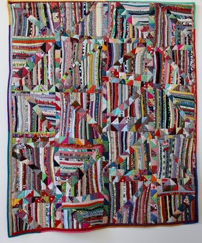 Anna Williams: Strings and Cross Bars. Collection of John Walsh III. This quilt was spotted at Sainte Marie aux Mines in October 2012; posted by Marie Claire idées (France)