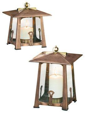 H Potter Craftsman Lantern, Large rustic-candleholders