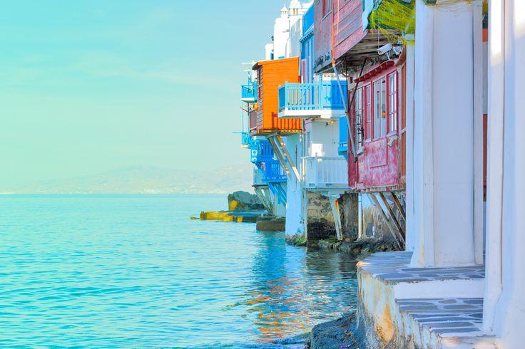 VISIT GREECE| Little Venice in #Mykonos #visitgreece #greece