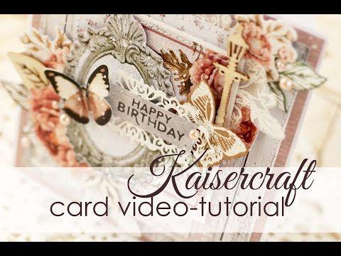 Multilayerd Card Tutorial by Julia Akinina | Многослойная открытка - Мастер-класс - YouTube