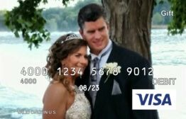 Personalized Gift Cards from GiftCards.com  Some friends gave us this Visa for a personal gift at our reception...We a picture of us on our wedding day We love it Thank you Frenche and Robert (fyi the card number that appears is not the real visa card number in this photo)