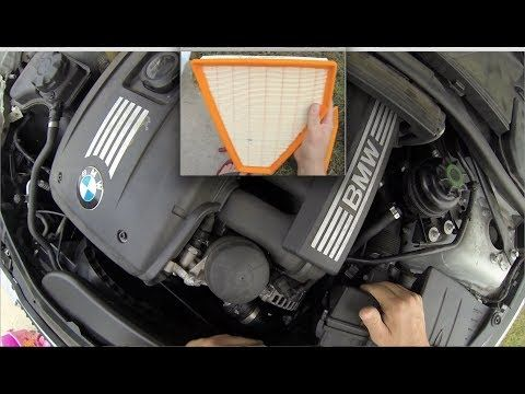 How To Change Air Filter 2006-2010 BMW e90 bmw air filter - YouTube