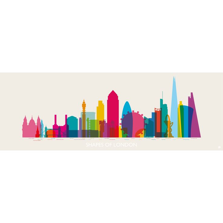 London's iconic buildings drawn accurate to scale and ordered chronologically.  Limited edition art print.