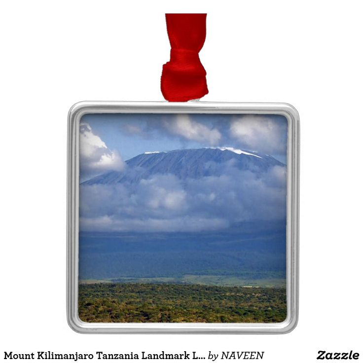 Mount Kilimanjaro Tanzania Landmark Landscapes Metal Ornament