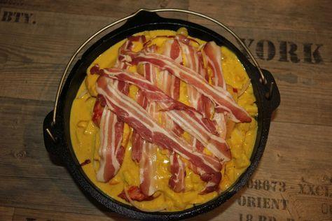Exotisches Geflügel-Schichtfleisch aus dem Dutch Oven - perfekts Sommerrezept aus dem Dutch Oven. Schaut rein und macht es nach! Simpel und einfach. Lecker