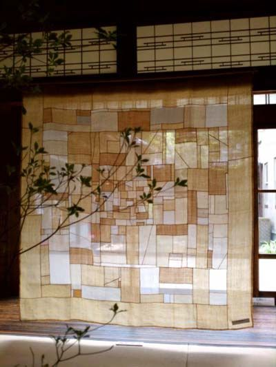 lovely parchment-colored airy curtain panel