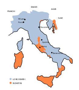 Regno longobardo - Localizzazione