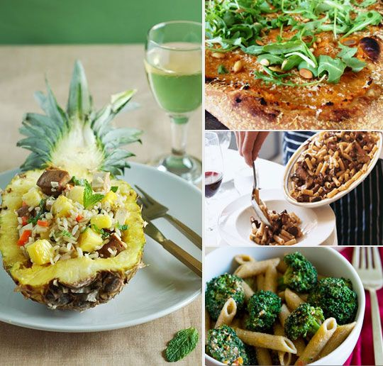 Vegetarian Dinner Party Dishes. Not that I throw parties or plan on starting