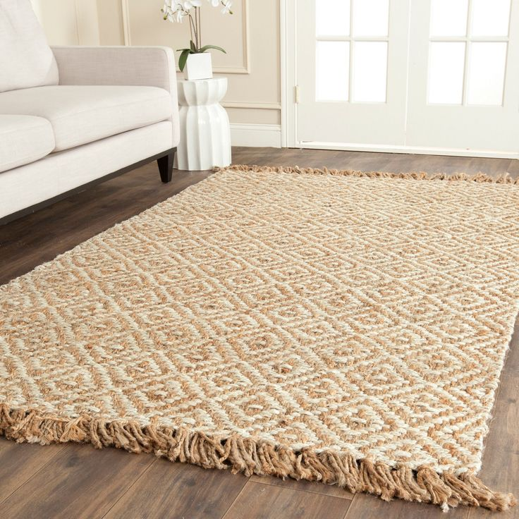 Safavieh Casual Natural Fiber Hand Woven Sisal Style Ivory Jute Rug 6 X 9 By