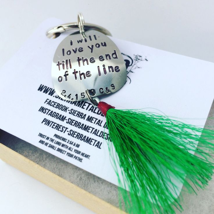 Fishing Lure Keychain Love For Him For Her Anniversary Personalized Custom