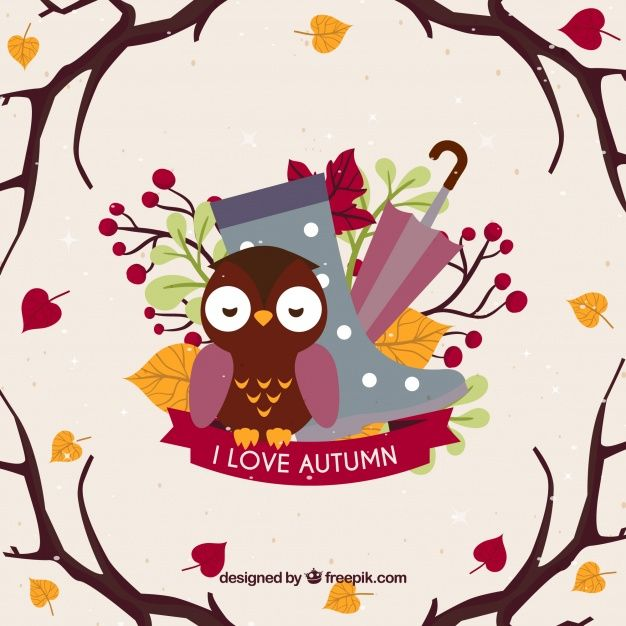 Free vector Fun autumnal background with lovely style #22583