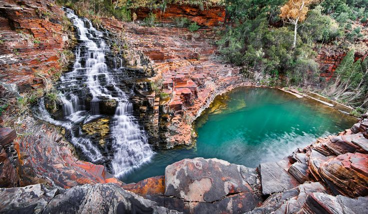 Fortescue Falls and Pool in Karijini National Park, Australia - Image by Ignacio Palacios
