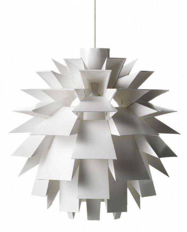 Jelanie: Norm 69 Lamp Large white by Normann Copenhagen